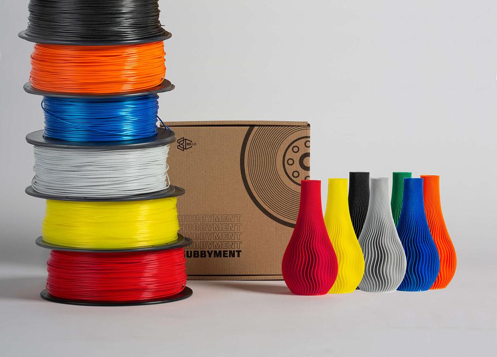 Hubbyment 3D filament spools in many colors